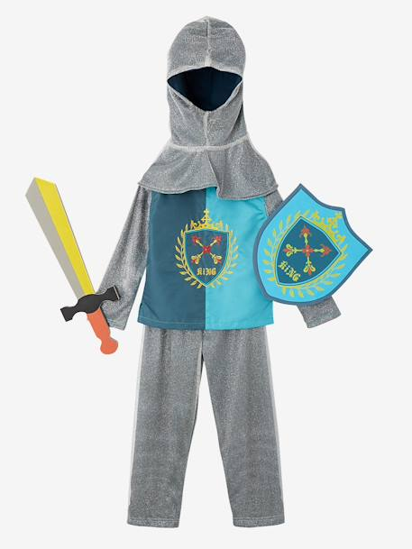 Knight Costume BLUE DARK SOLID WITH DESIGN - vertbaudet enfant