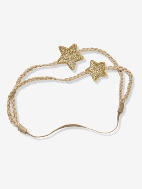 Festive favourite-Girls-Double-Braided Headband with 2 Stars