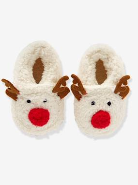 Shoes-Baby Footwear-Faux Fur Slippers