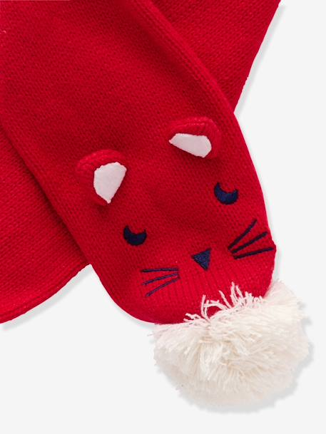 Boys' Beanie & Scarf & Mittens Set RED DARK SOLID - vertbaudet enfant