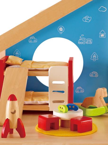 Children's Wooden Bedroom, by HAPE BEIGE LIGHT SOLID WITH DESIGN - vertbaudet enfant