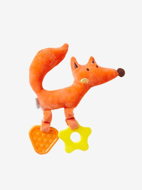 Fox with Teethers ORANGE LIGHT SOLID - vertbaudet enfant