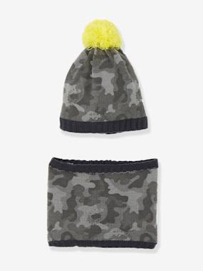 Boys-Accessories-Winter Hats, Scarves & Gloves-Boys' Beanie & Snood & Ski Set