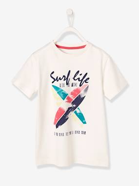 Boys-Tops-Boys' T-Shirt with Surf Print