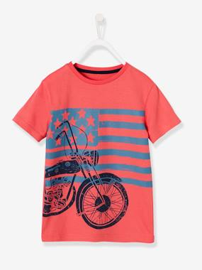 Boys-Tops-Boys' T-Shirt with Motorbike Print