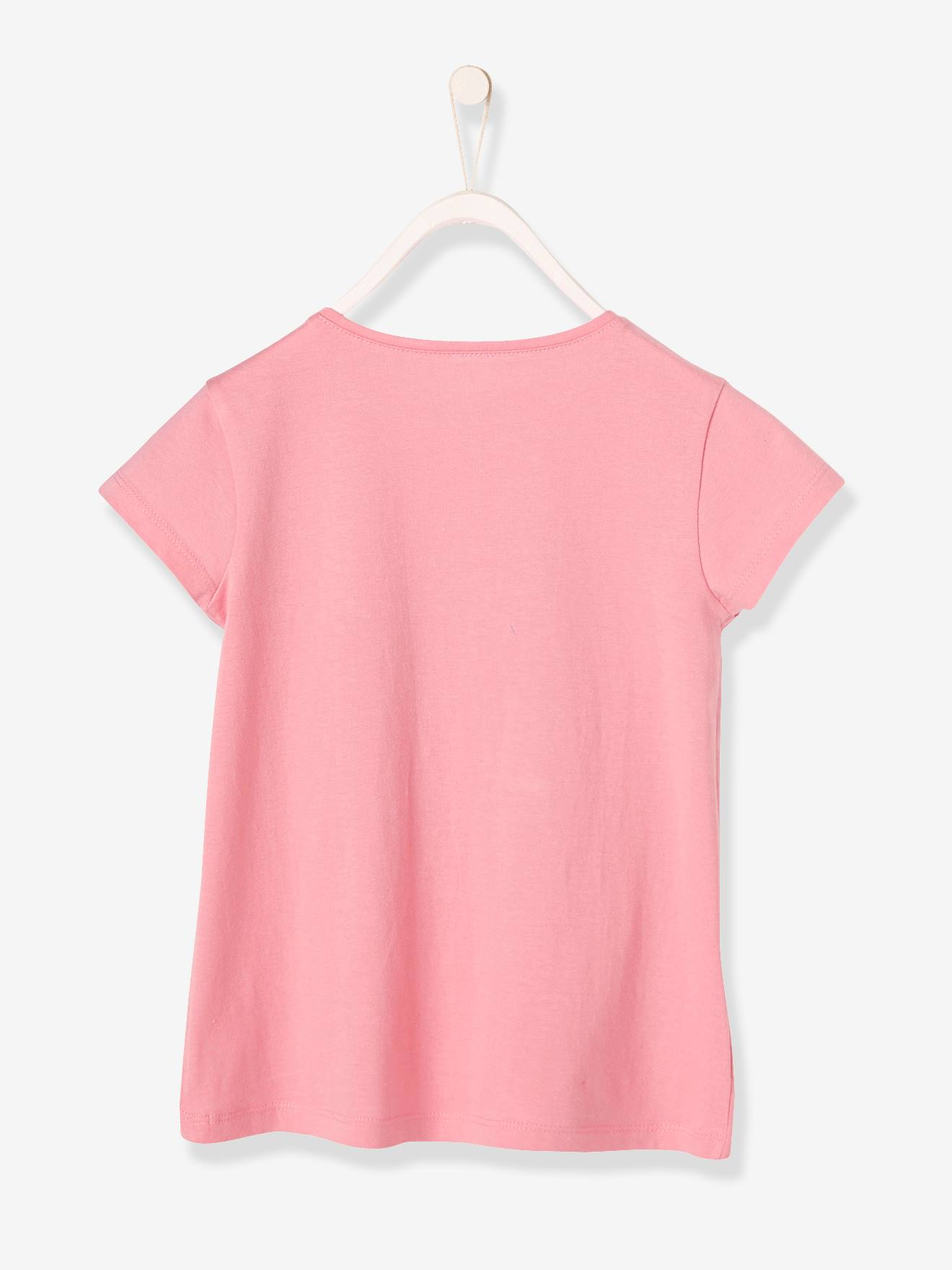 66e55c4f4 Girls' T-Shirt with Reversible Sequins - pink medium solid with desig ...