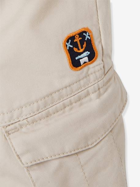 Baby Boys' Baggy Trousers BEIGE MEDIUM SOLID+BROWN MEDIUM SOLID - vertbaudet enfant