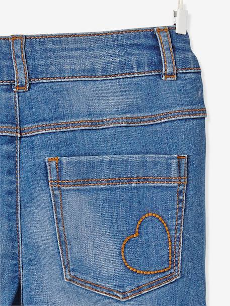 Jean slim fille tour de hanches MEDIUM Bleu delavé+DENIM GRIS - vertbaudet enfant