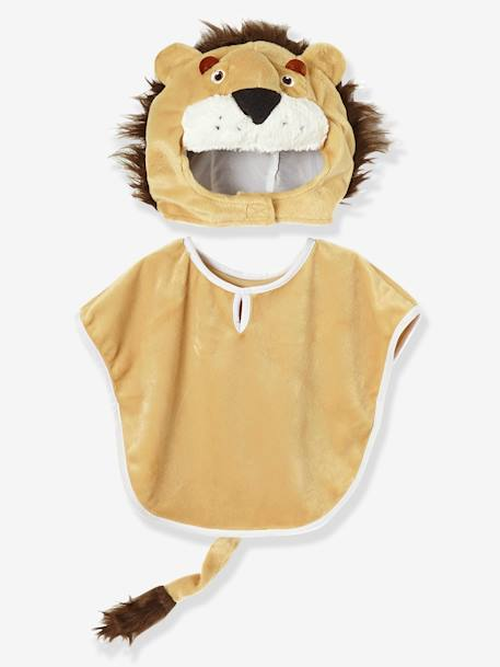 Children's Lion Costume BEIGE LIGHT SOLID WITH DESIGN - vertbaudet enfant