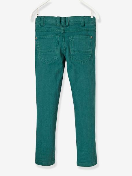 MEDIUM Fit - Boys' Slim Cut Trousers BLUE DARK SOLID+GREEN DARK SOLID+ORANGE LIGHT SOLID+PINK DARK SOLID - vertbaudet enfant