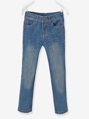 Vertbaudet Sale-Boys-Trousers-Boys' Indestructible Straight Cut Jeans