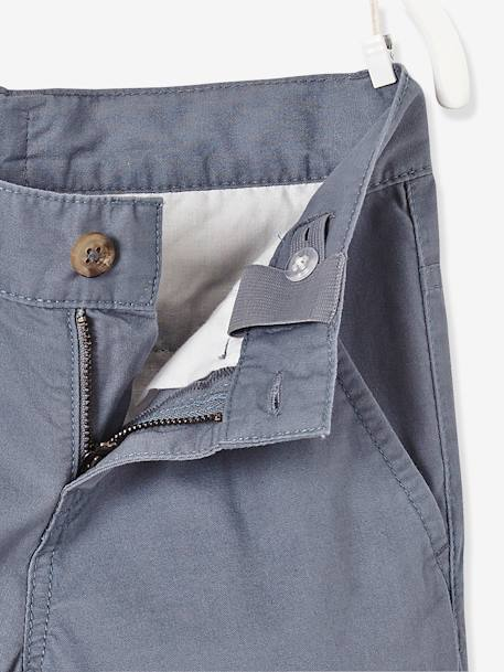 Boys' Poplin Chinos BLUE DARK SOLID+BLUE MEDIUM SOLID+GREY MEDIUM SOLID - vertbaudet enfant