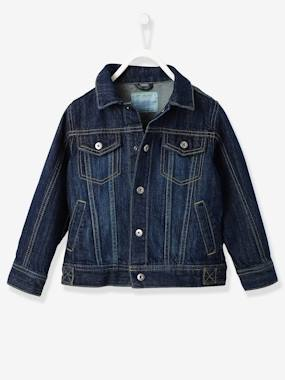 navy shark boy-Boys Denim Jacket