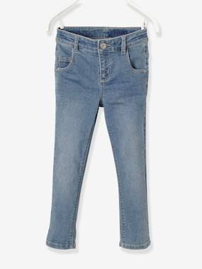 Trousers-Girls-NARROW Fit, Girls' Cropped Slim Fit Denim Trousers
