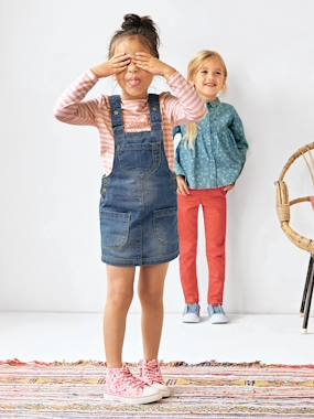 Collection Printemps-Robe salopette fille en jean