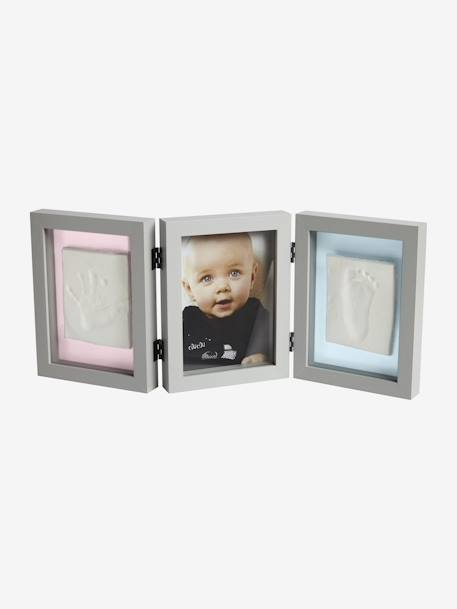 Three-Section Frame for Baby Hand or Foot Mould, by Vertbaudet Light grey - vertbaudet enfant