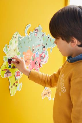 Decoration-Magnetic Map Sticker