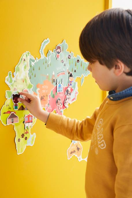 Magnetic Map Sticker White - vertbaudet enfant