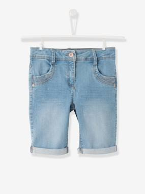 Girls-Shorts-Girls Denim Bermuda Shorts