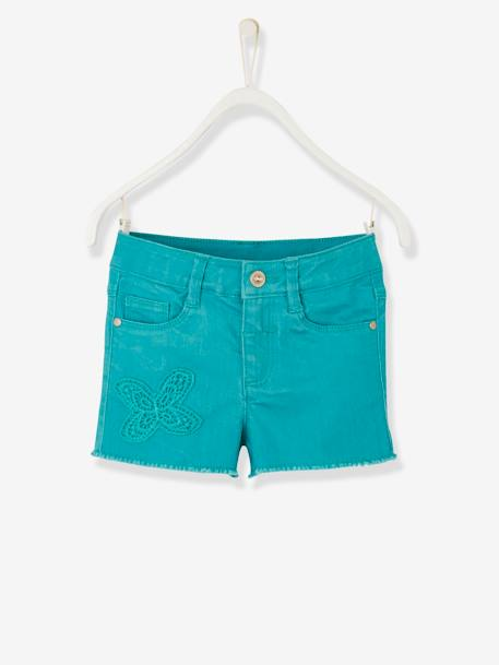 Short fille brodé Aqua+Blanc+ORANGE+Rose blush - vertbaudet enfant