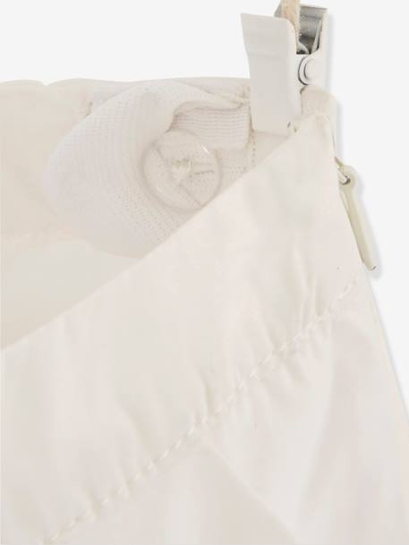 Girls' Embroidered Shorts WHITE LIGHT SOLID WITH DESIGN - vertbaudet enfant