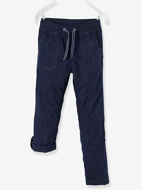 Boys' Joggers, Adjustable Length BLUE DARK SOLID+RED DARK SOLID - vertbaudet enfant