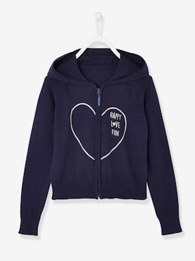 Girls-Cardigans, Jumpers & Sweatshirts-Cardigans-Girls' Hooded Jacket