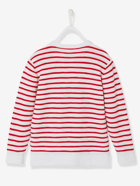 Boys' Striped Top ORANGE BRIGHT STRIPED - vertbaudet enfant