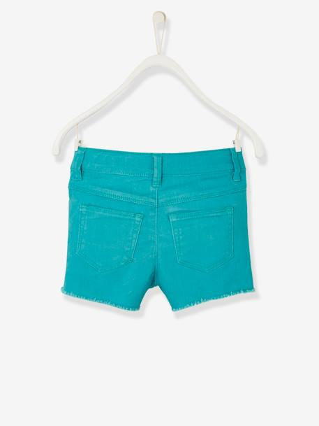 Short fille brodé Aqua+ORANGE+Rose blush - vertbaudet enfant