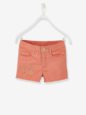 Girls-Shorts-Girls' Embroidered Shorts