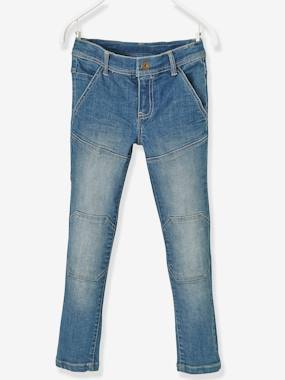 Boys-Trousers-Boys' Slim Fit Jeans, Breathable Denim