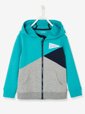 Boys-Sweatshirts & Hoodies-Boys' Colour Block Jacket with Zip