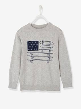 Boys-Cardigans, Jumpers & Sweatshirts-Jumpers-Boys' Printed Top