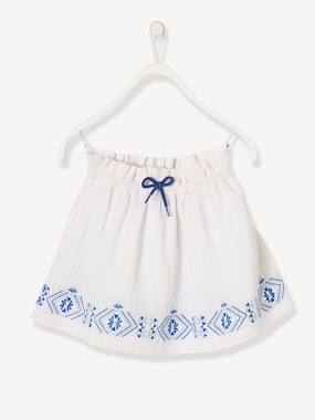 Outlet-Girls-Girls' Embroidered Skirt