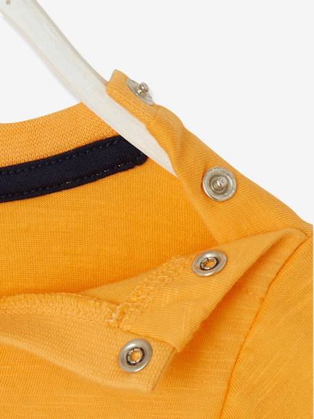 Baby Boys' Top, Cornelius Fantastic ORANGE LIGHT SOLID WITH DESIGN - vertbaudet enfant