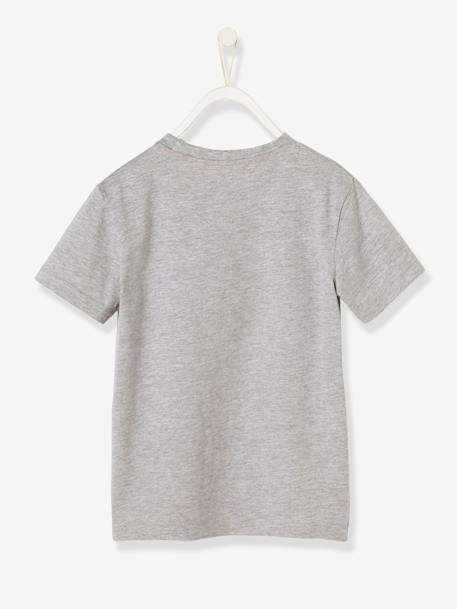 Boys' Printed T-Shirt GREY LIGHT MIXED COLOR - vertbaudet enfant