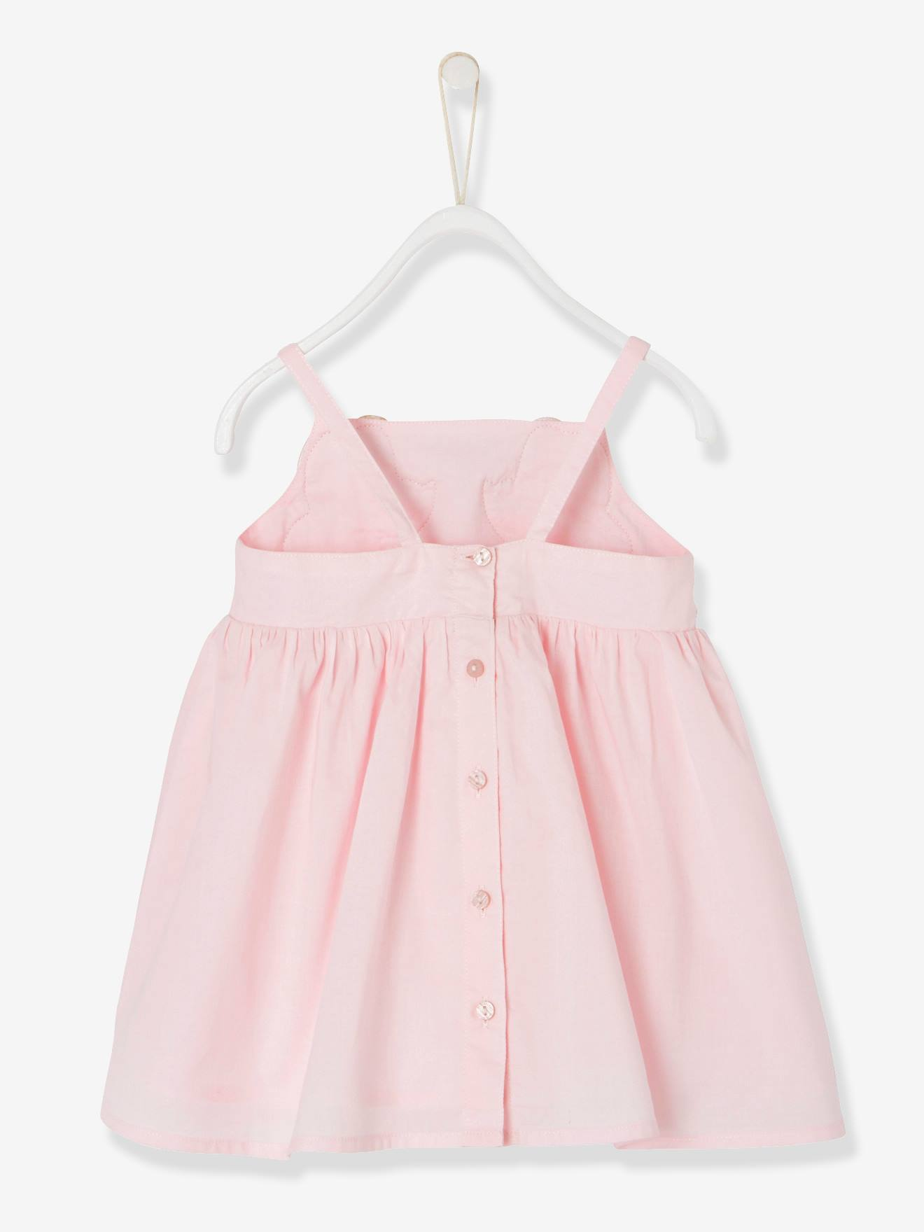 b3486542453f Baby Girls  Dress with Spaghetti Straps - pink light solid with ...