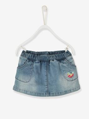 Baby-Dresses & Skirts-Baby Girls' Denim Skort