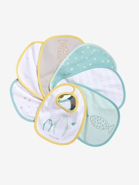 Vertbaudet Pack of 7 Newborn Bibs Muticolour - vertbaudet enfant