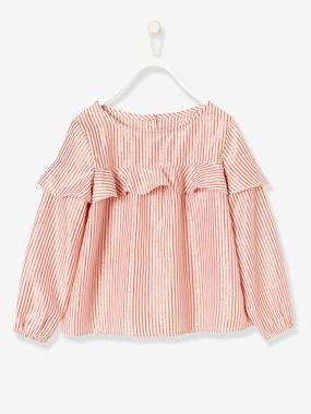 Vertbaudet Collection-Girls-Girls' Blouse with Frills