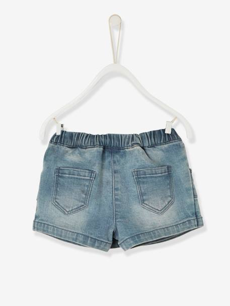 Baby Girls' Denim Skort BLUE LIGHT WASCHED - vertbaudet enfant