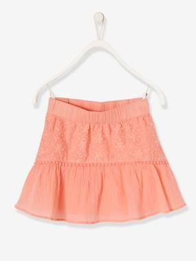 Girls-Skirts-Girls' Dual Fabric Skirt