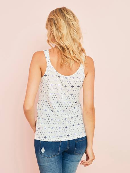 Maternity Top with Graphic Pattern WHITE LIGHT ALL OVER PRINTED - vertbaudet enfant