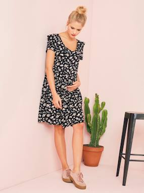 Vertbaudet Sale-Maternity-Floral Breastfeeding Dress