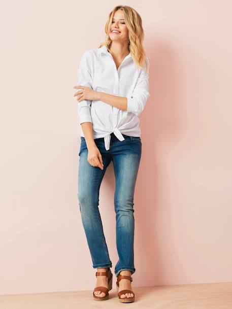 Regular Maternity Straight Jeans - Inside Leg 30' Denim brut+Stone - vertbaudet enfant