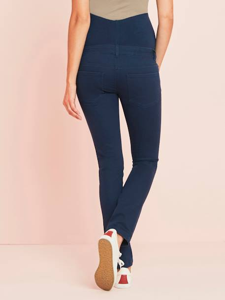 Maternity Slim Jeans in Stretch Fabric, Inside Leg 31' BLACK DARK SOLID+BLUE DARK SOLID+GREEN MEDIUM SOLID+GREY DARK SOLID+GREY LIGHT SOLID - vertbaudet enfant