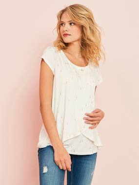 Vertbaudet Collection-Maternity & Nursing Cross-Over T-Shirt