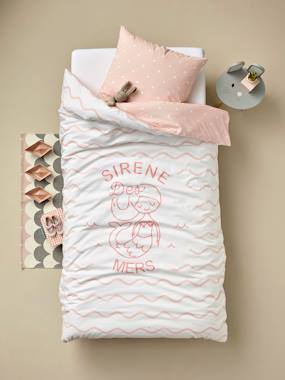 Vertbaudet Sale-Bedding-Duvet Cover + Pillowcase Set, Mermaid of the Seas Theme