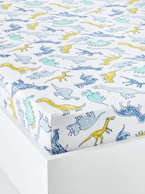 Vertbaudet Collection-Bedding-Children's Fitted Sheet, DINOMANIA Theme