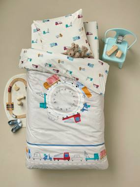 Mid season sale-Bedding-Children's Duvet Cover + Pillowcase Set, Fun Ride Theme
